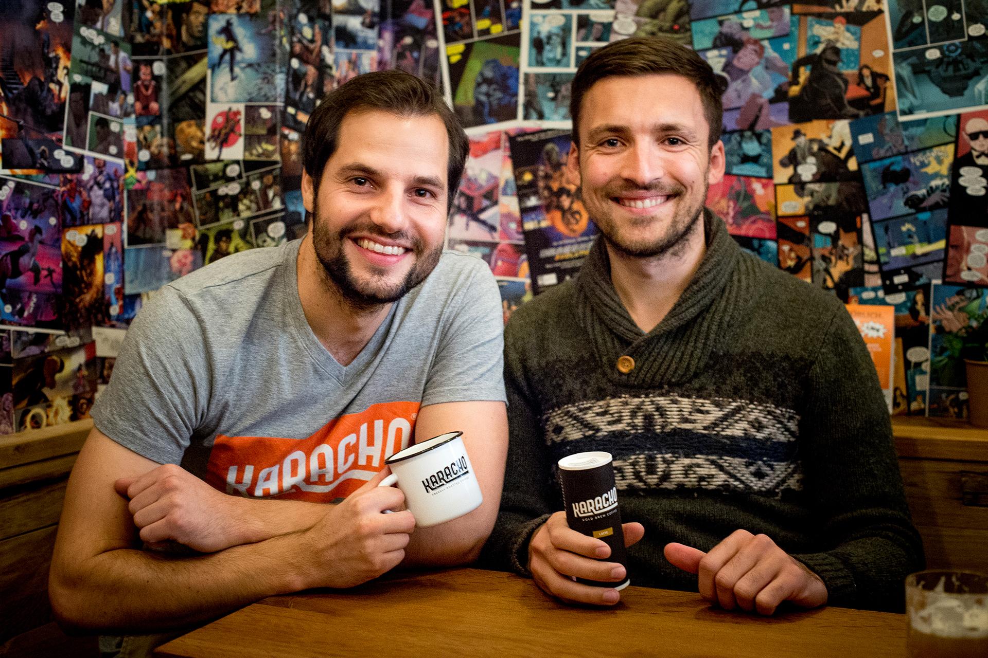 KARACHO-Gründer Jonas Braun und Merlin Stellwag