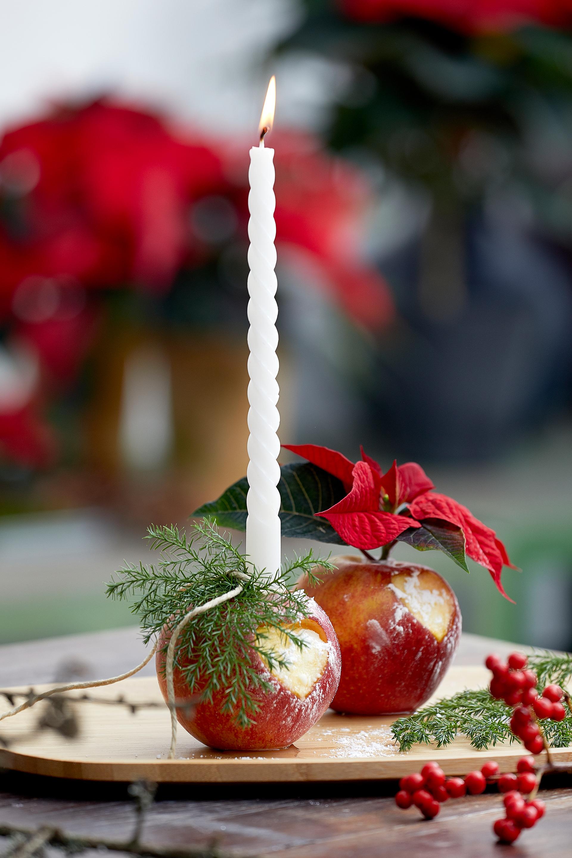 Weihnachtsflair im Handumdrehen mit Apfellichtern und Co.