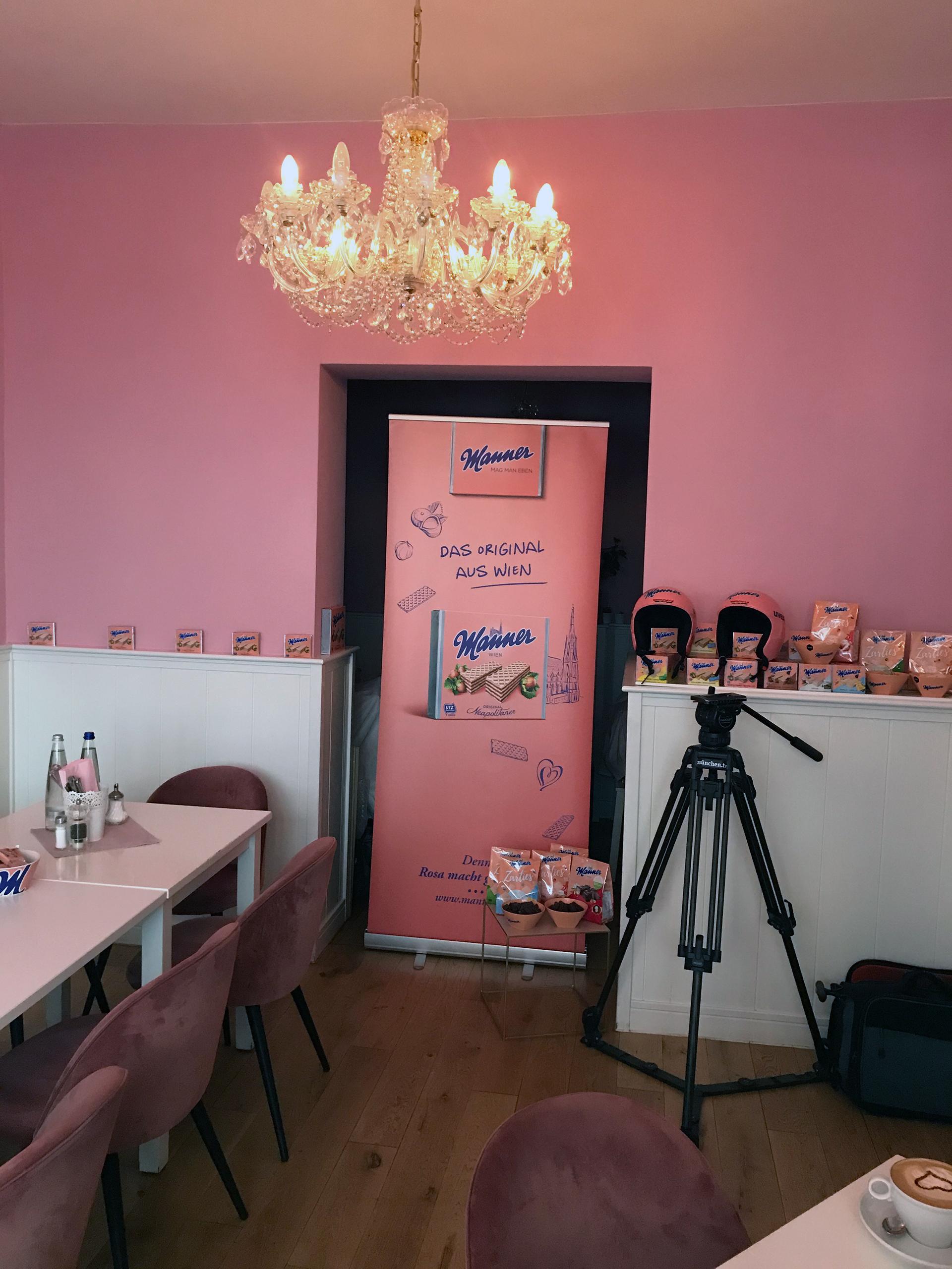 Das Café Lotti bot den perfekten Rahmen für das Manner Pressefrühstück