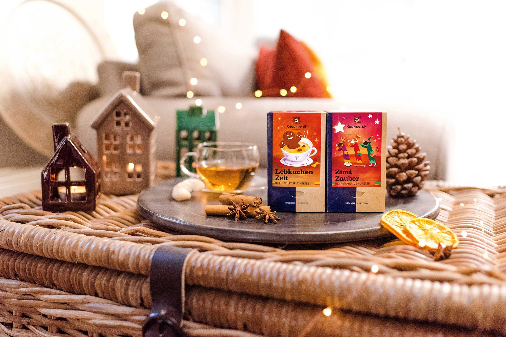 Wir verlosen drei Mal weihnachtlichen Teegenuss von SONNENTOR