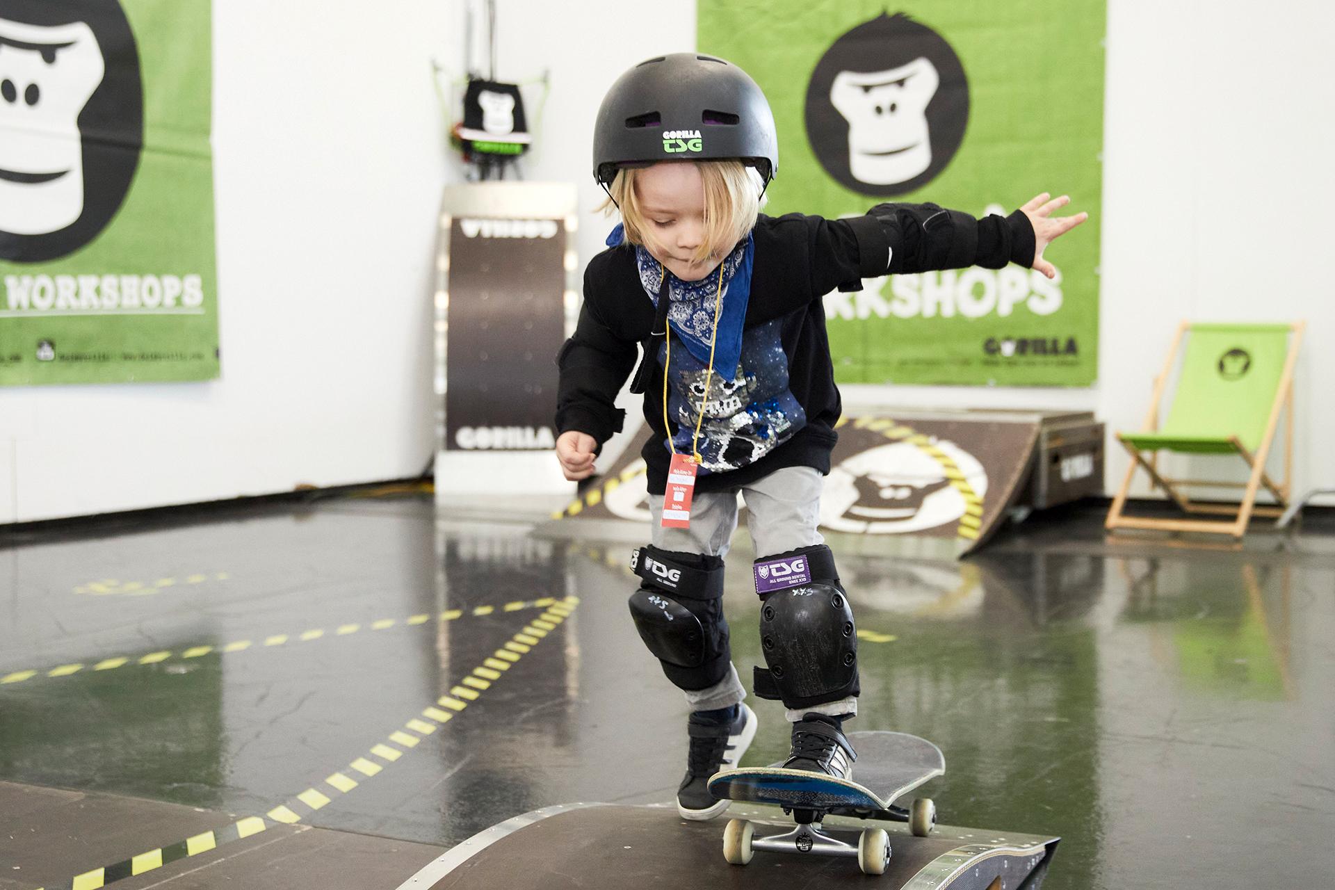 Die Kleinsten hatten viel Spaß auf dem Kids Gorilla Playground