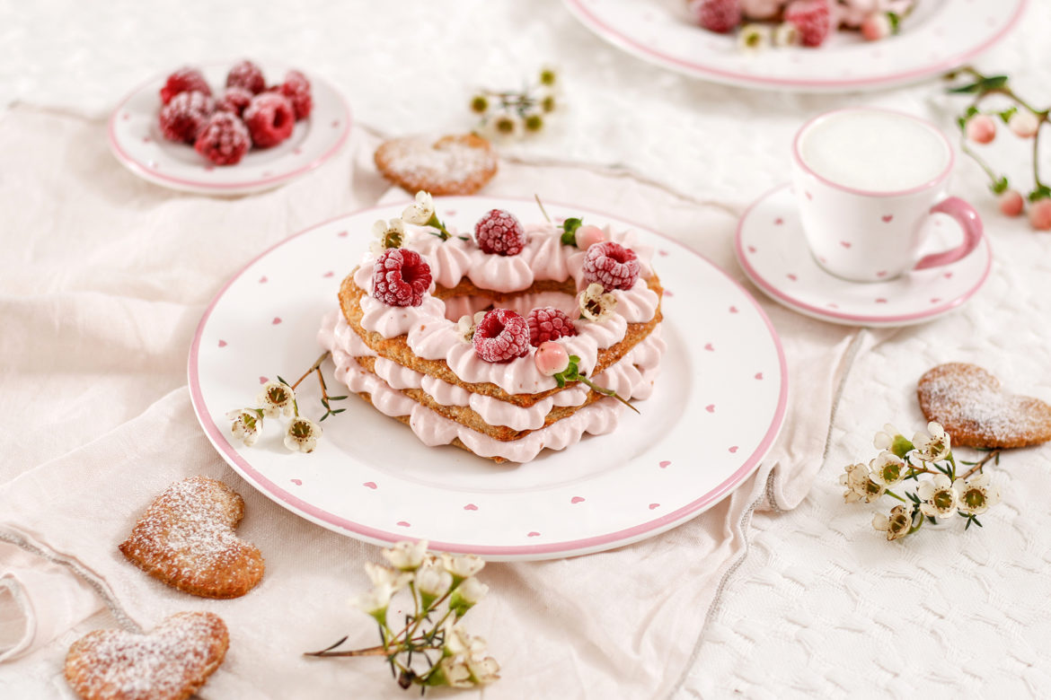 Mille Feuille mit Himbeercreme